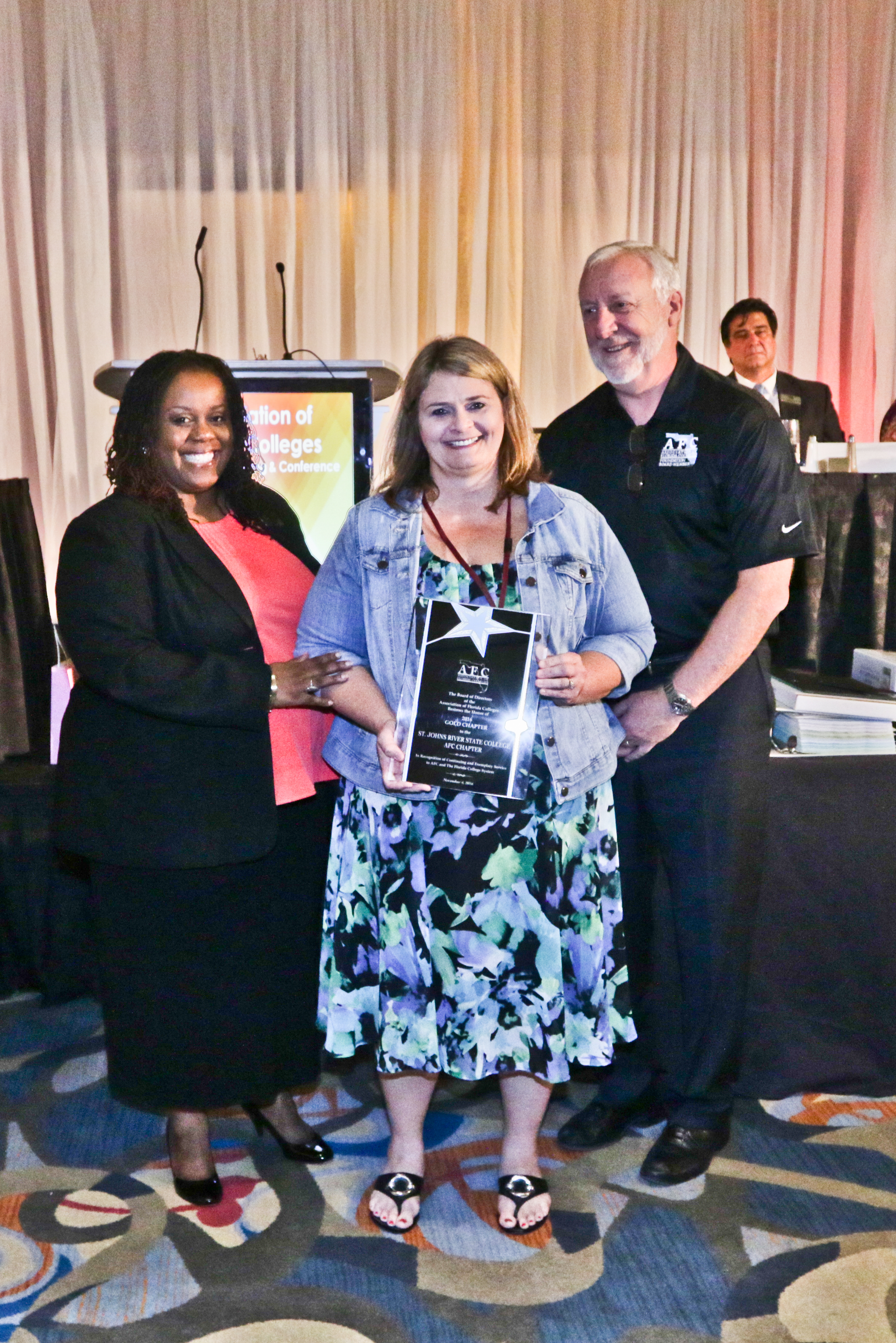 st johns river state college gold chapter award